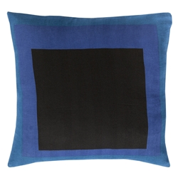 "Tino 18"" Blue Modern Pillow"