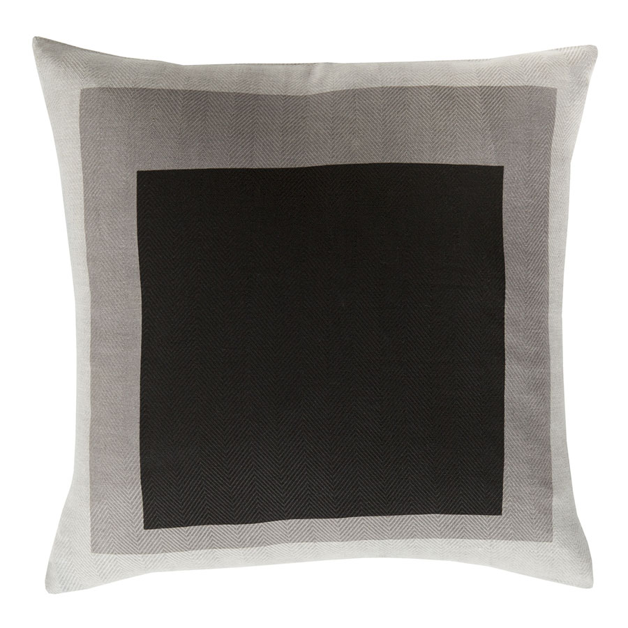 "Tino 22"" Gray Modern Pillow"