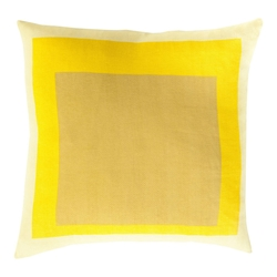 "Tino 22"" Yellow Modern Pillow"