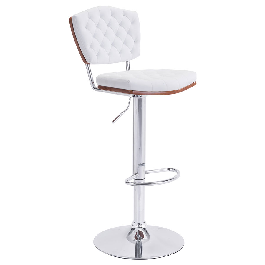 Tino White Modern Adjustable Stool