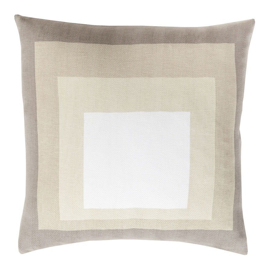 "Tiras 22"" Modern Khaki Pillow"