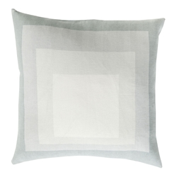 "Tiras 22"" Modern Sea Foam Pillow"