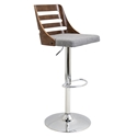 Titus Gray Adjustable Modern Stool