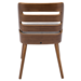 Titus Gray Fabric + Bent Walnut Contemporary Side Chair