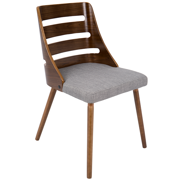 Titus Gray Modern Side Chair