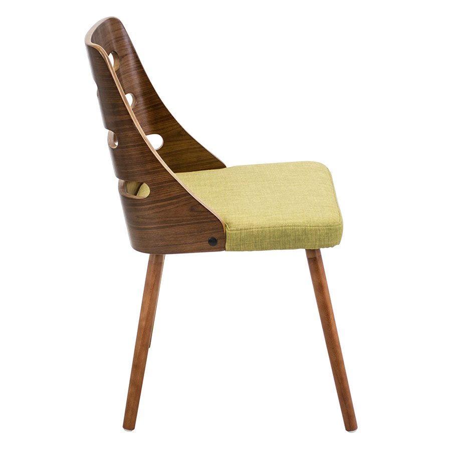 modern dining chairs  titus green side chair  eurway -  titus green  walnut modern side chair