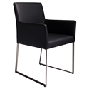 Tobias Modern Black Arm Chair