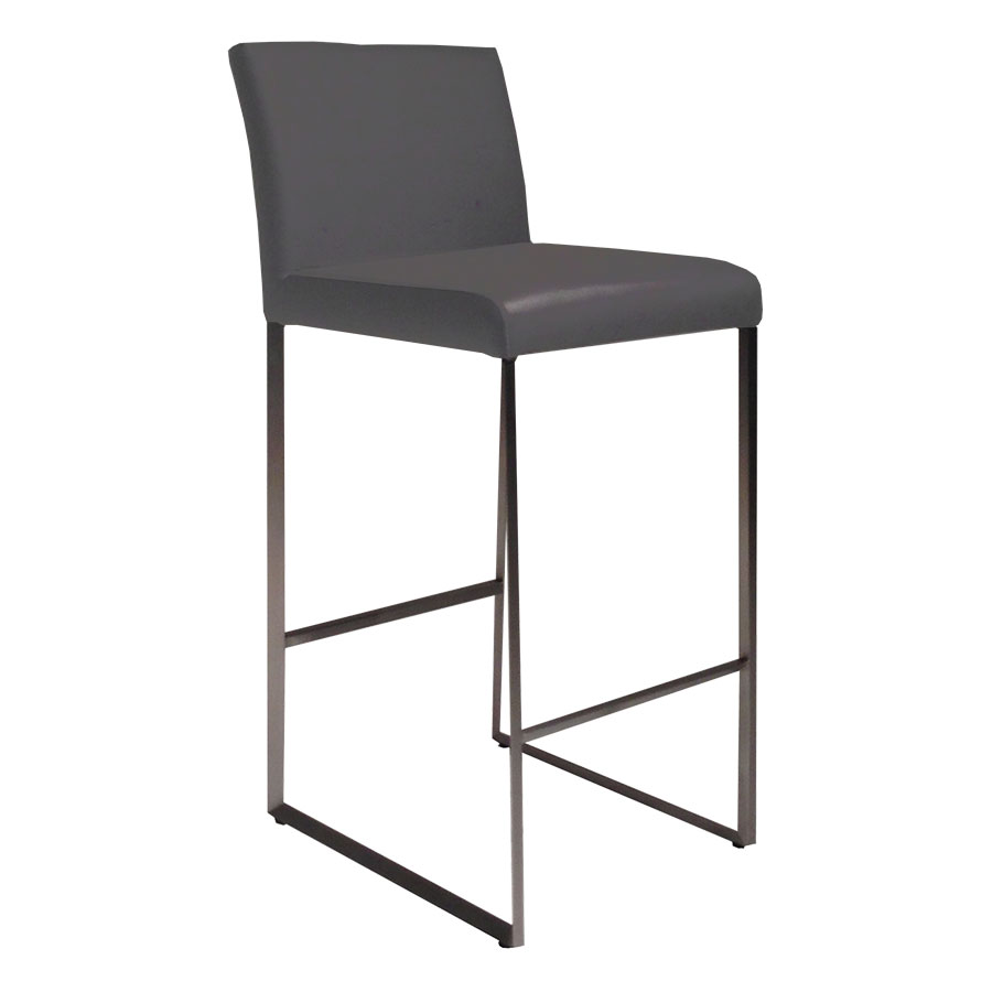 Tobias Modern Gray Bar Stool