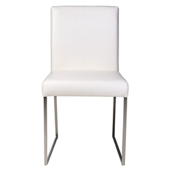 Tobias Modern White Dining Chair