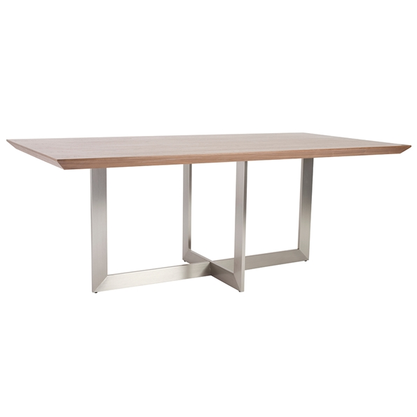 Tosca Modern 79x39 Walnut Dining Table