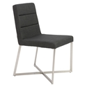 Tosca Modern Dining Chair in Charcoal Fabric