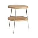 Tomlinson Large Oak Side Table with Polished Steel Frame