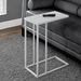 Tony Contemporary White Accent Table