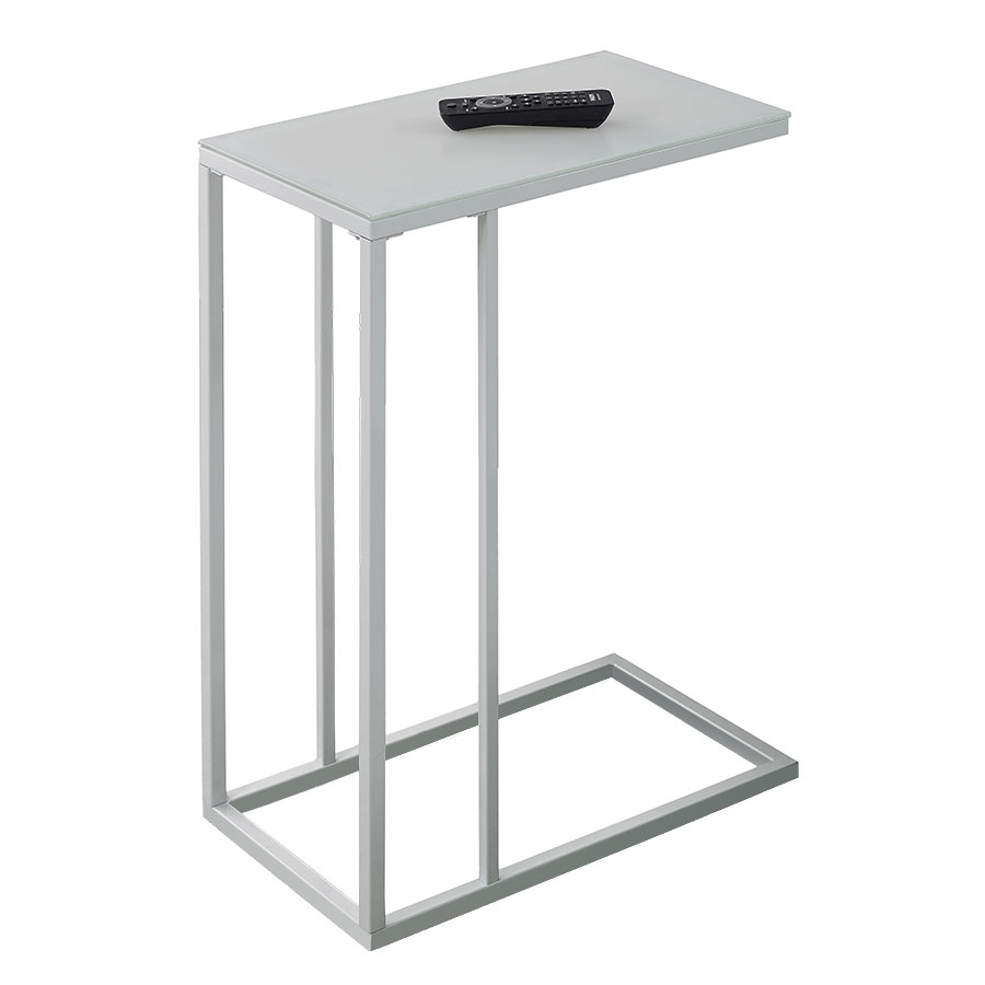 Modern end tables tony white accent table eurway for White side table