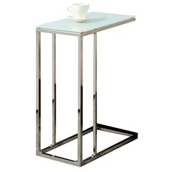 Tony Modern Glass Top Accent Table