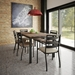 Amisco Tori Powder Coated Steel + Upholstery Contemporary Dining Side Chair - Lifestyle