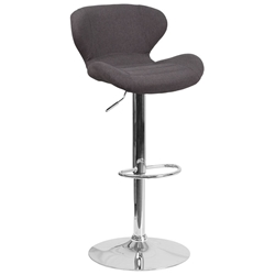 Torino Modern Adjustable Barstool in Black