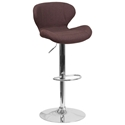 Torino Modern Adjustable Barstool in Brown