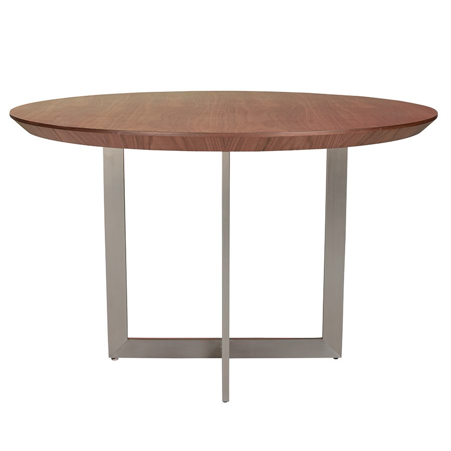 Tosca Round Walnut Contemporary Dining Table