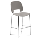 Trajan Chrome + Tan Modern Counter Stool