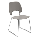 Trajan Chrome + Tan Modern Sled Dining Chair