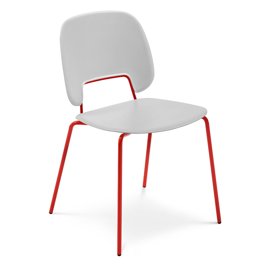 Trajan red gray modern dining chair eurway for Red modern dining chairs