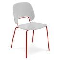 Trajan Red + White Modern Dining Chair