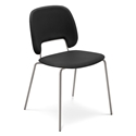 Trajan Tan + Black Leatherette Modern Dining Chair