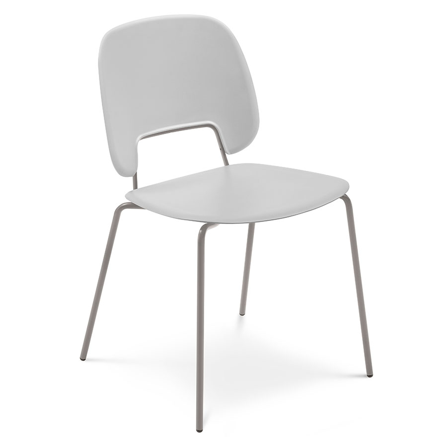 Trajan Tan + Gray Modern Dining Chair