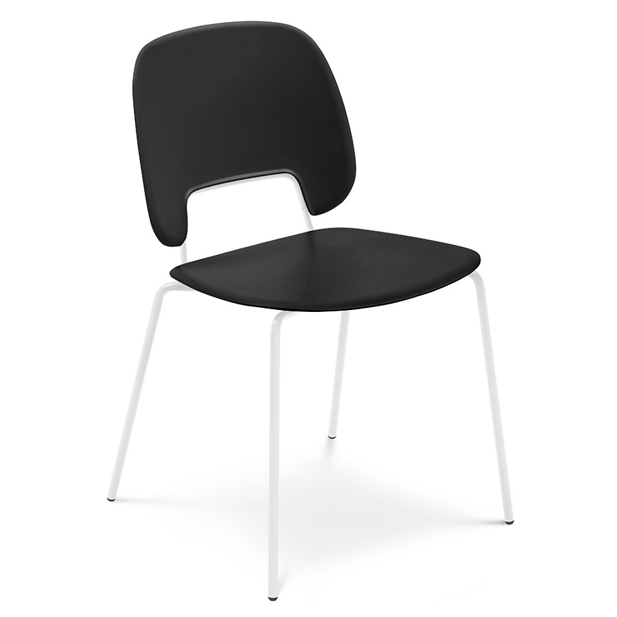 Trajan White + Black Modern Dining Chair