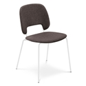 Trajan White + Brown Modern Dining Chair