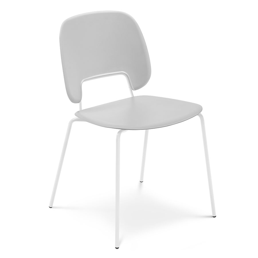 Trajan White + Gray Modern Dining Chair