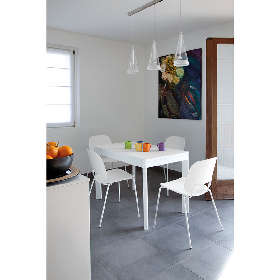 Trajan White Metal + Polyethylene Modern Dining Chair