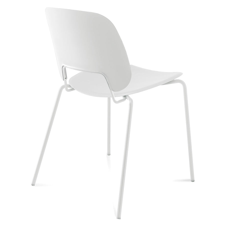 Trajan White Modern Dining Chair