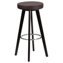 Transcend Cappuccino + Brown Modern Bar Stool