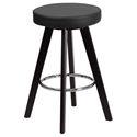 Transcend Cappuccino + Black Modern Counter Stool