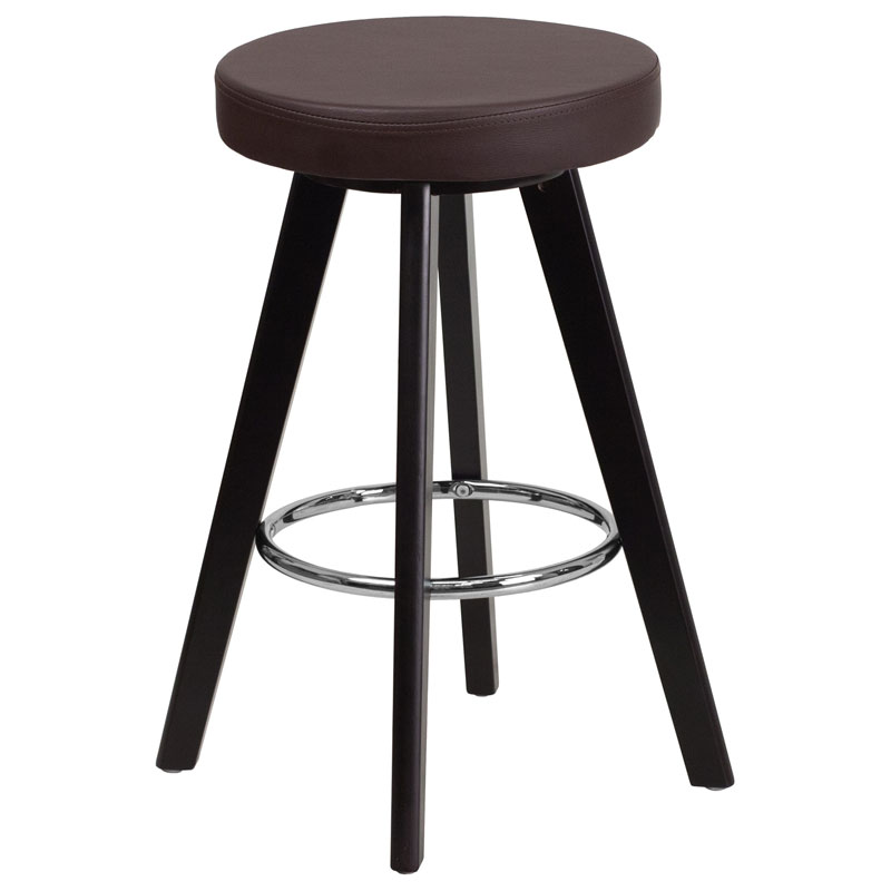 Transcend Cappuccino + Brown Modern Counter Stool