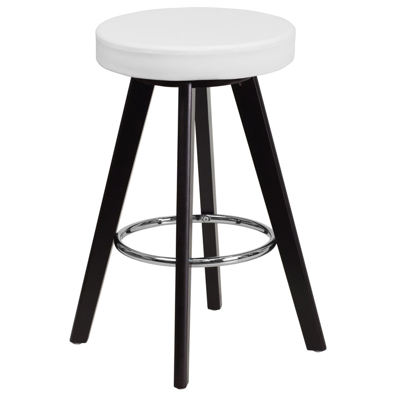 Transcend Cappuccino + White Modern Counter Stool
