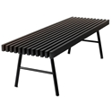 Transit Contemporary Bench in Black by Gus Modern