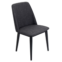 Trent Charcoal Modern Dining Chair
