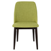 Trent Green Fabric + Dark Wood Contemporary Dining Side Chair