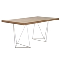 Tema Home Multi Trestles 63 Inch Walnut Chrome Table
