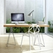 Trestles Modern Desk in Oak + Chrome by TemaHome