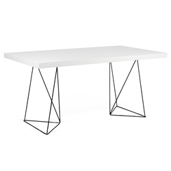 Trestles White+ Black 71 in. Multi Dining Table by TemaHome