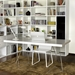 Trestles Modern Dining Table in White Finish