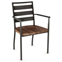 Tori Modern Arm Chair with Wooden Seat by Amisco