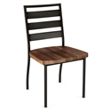 Tori Modern Side Chair with Wooden Seat by Amisco