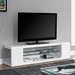 Trevor Contemporary White TV Stand