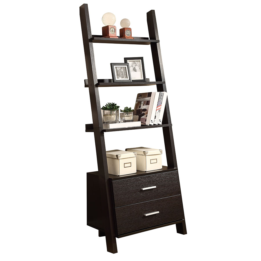Trina Modern Wall-Leaning Ladder Bookcase