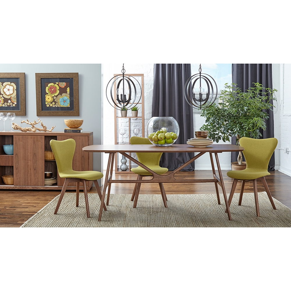 Travis Walnut Veneer Dining Table By Euro Style Eurway